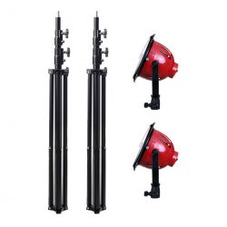 [88422] Video Lighting Kit: 2 x LED Red Head Lights + Stands