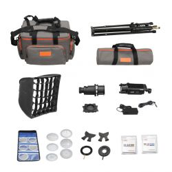 [89528] Godox Bundle | Godox S30 Focus LED Continuous Light + Accessories + 1 x Lens | Choose 63mm, 85mm or 150mm